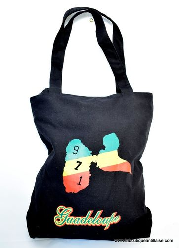 SAC GUADELOUPE CARTE 3 COULEURS