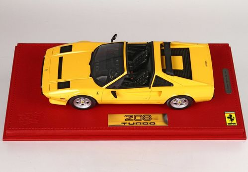 Ferrari 208 GTS Turbo 1983 Modena yellow 1/18 lim.ed. 99 pcs