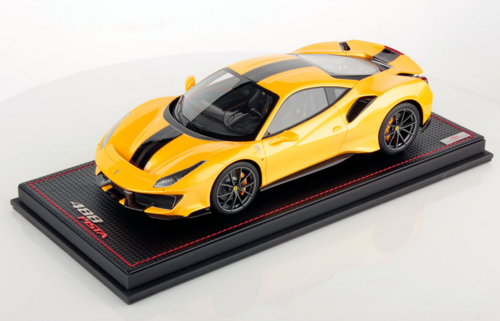 Ferrari 488 Pista giallo Tristrato 1/18 lim.ed. 49 pcs MR Collection