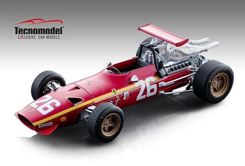 FERRARI 312 F1/68 N.26 Winner FRENCH GP 1968 JACKY ICKX 1:18