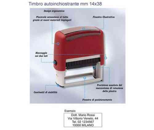 Timbro autoinchiostrante mm 14x38 art. TM9011