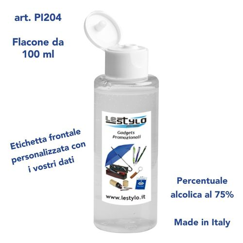 Gel igienizzante mani art. PI204 (100 ml)